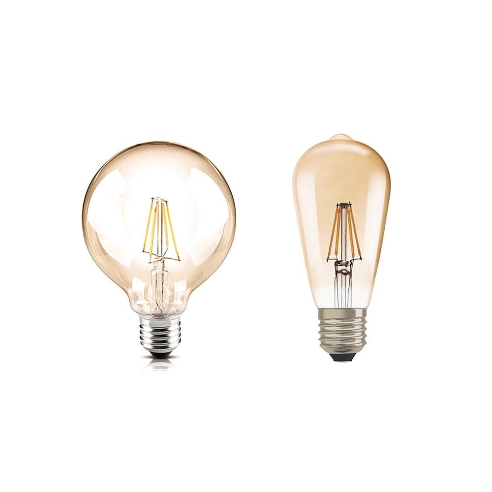 【歐司朗】LED 6.5W 調光型燈絲燈泡(復古造型燈泡1906年)