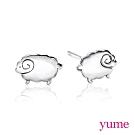 【YUME】 可愛動物 綿羊耳環