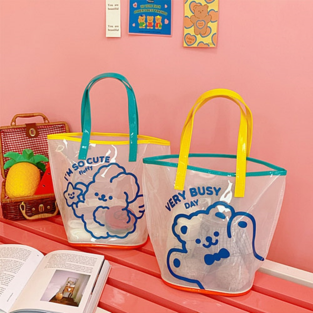 Baby童衣 可愛小熊透明PVC果凍手提包 88600