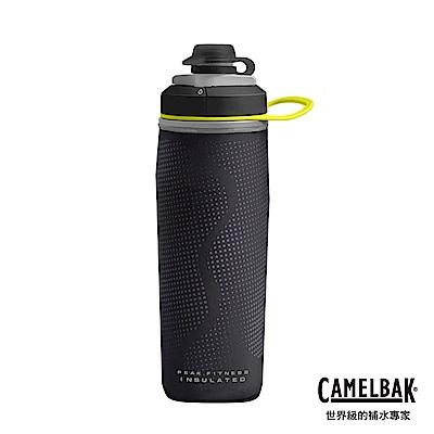 【美國 CamelBak】500ml Peak Fitness運動保冰噴射水瓶 黑
