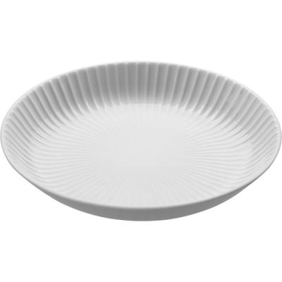 《Tokyo Design》浮雕瓷製餐盤(白22.5cm)