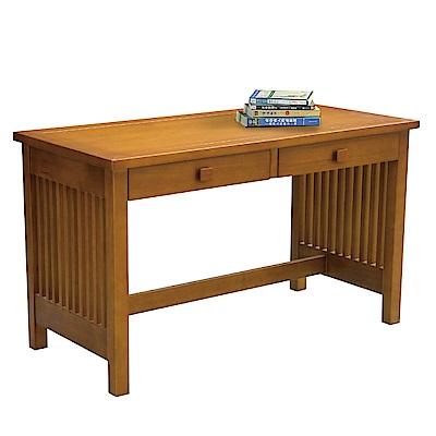 文創集 華格時尚4.2尺實木書桌/電腦桌-126x60x74cm免組