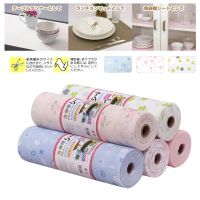 日本 多用途PET印花防潮墊 桌墊 餐墊 抽屜墊 防水防滑-可裁剪300cm