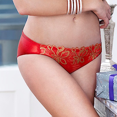 黛安芬-水漾感動系列 M-EL低腰內褲 紅