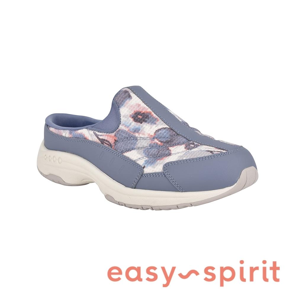 Easy Spirit-seTRAVELTIME 透氣典雅素面懶人拖鞋-印花藍