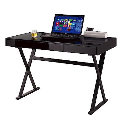 文創集 約翰時尚4尺三抽書桌/電腦桌(二色可選)-120x60x75cm免組