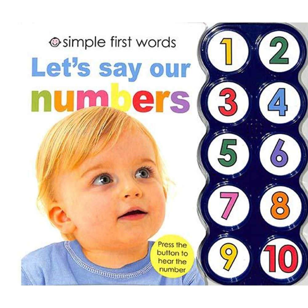 Simple First Word:Let's Say Our Numbers 一起唸數字硬頁有聲書(美國版) product image 1