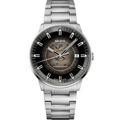 MIDO Commander Gradient系列 煙灰漸層機械錶(M0214071141100)
