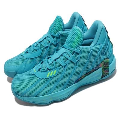 adidas 籃球鞋 Dame 7 運動 男鞋 愛迪達 避震 包覆 支撐 球鞋 藍 綠 FZ1050