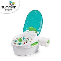 美國 Summer Infant 豪華3合1兒童馬桶練習組 - 藍色