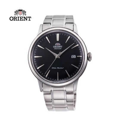 ORIENT 東方錶 DATEⅡ系列 機械錶 鋼帶款 黑色 RA-AC0006B