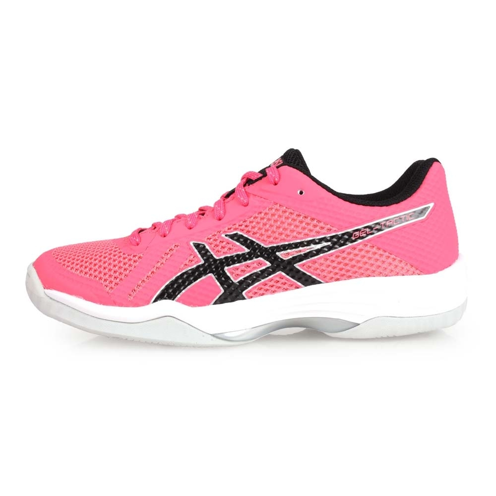 ASICS GEL-TACTIC 女排羽球鞋-羽球 排球  粉紅黑