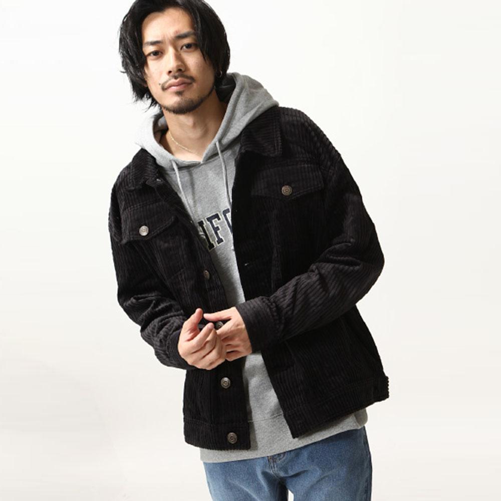 復古燈心絨牛仔外套(4色) ZIP日本男裝