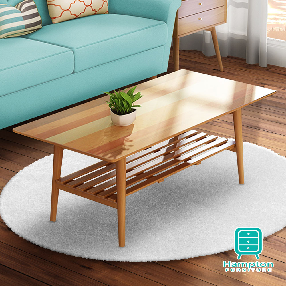 漢妮Hampton米緹日式拼木摺疊大茶几-100x47.6x38cm