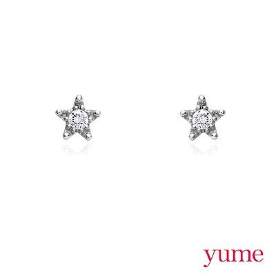 YUME - K金星星單鑽耳環