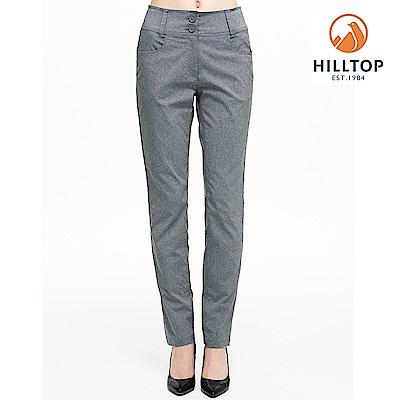 【hilltop山頂鳥】女款吸濕快乾彈性抗UV長褲S07FH9黑美人