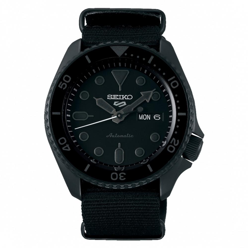 SEIKO 精工 5 Sports 系列黑面帆布機械錶4R36-07G0F(SRPD79K1) x42.5mm