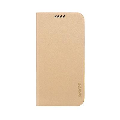 Araree Galaxy S6 原創手工真皮皮夾側掀皮套