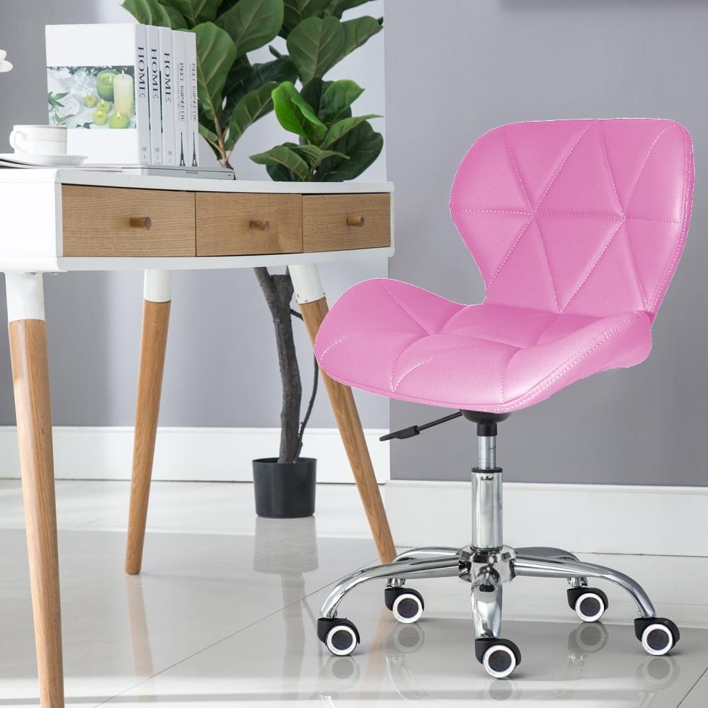E-home Radar雷達軟墊電腦椅 粉紅色