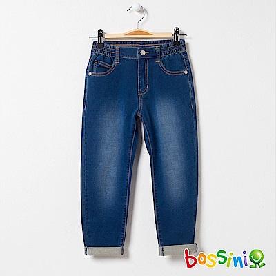 bossini女童-舒適牛仔褲02靛藍