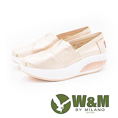 W&M BOUNCE系列 厚底增高鞋 女鞋-珠光金粉(另有珠光黑)