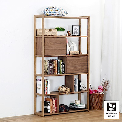 多瓦娜-摩卡朵拉書櫃/展示櫃-總寬110x 總深35x總高190