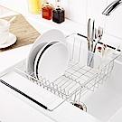 完美主義 不鏽鋼二用伸縮水漕架/瀝水架/碗盤架(附美奈瀝水盤)