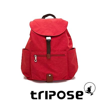 tripose MEMENTO系列微皺尼龍經典輕量後背包(大)石榴紅