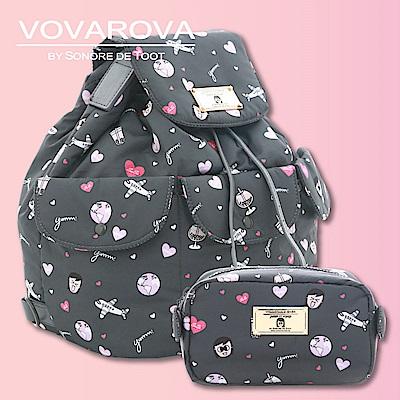 VOVAROVA x 莎莎-百寶袋後背包+裝不滿化妝包-環遊世界系列
