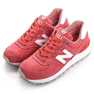 New Balance TIER 3 574 女復古休閒鞋 WL574CHE-B 紅