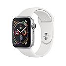Apple Watch Series 4 GPS44mm 銀色鋁金屬錶殼搭配白色運動型