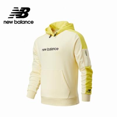 [New Balance]連帽長袖上衣_男款_黃色_AMT11500CYW