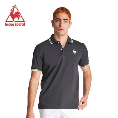 le coq sportif 法國公雞牌左胸公雞印花短袖POLO衫 男-黑
