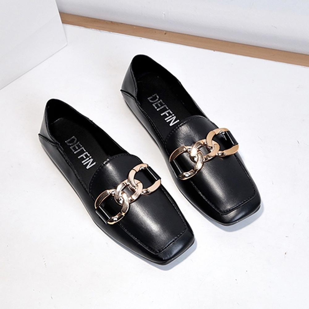 韓國KW美鞋館-(現貨)名媛貴氣奢華懶人鞋(共1色) (黑色)