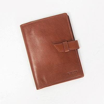 CALTAN-真皮護照夾 卡片層護照 護照收納 牛皮 證件護照套-1831cd-C