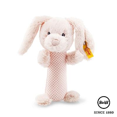 STEIFF德國金耳釦泰迪熊 兔子 BABY(嬰幼兒搖鈴)