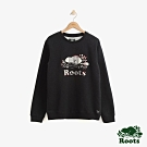 Roots 男裝- 斯莫克胡刷毛圓領上衣-黑