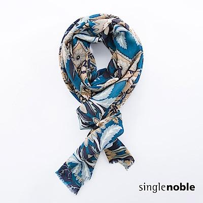 獨身貴族 古老密語花藝圖騰抽鬚圍巾(2色)
