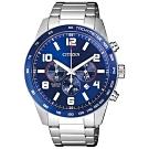 CITIZEN 星辰 潮流達人限量款時尚計時男錶(AN8161-50L)-藍/44mm