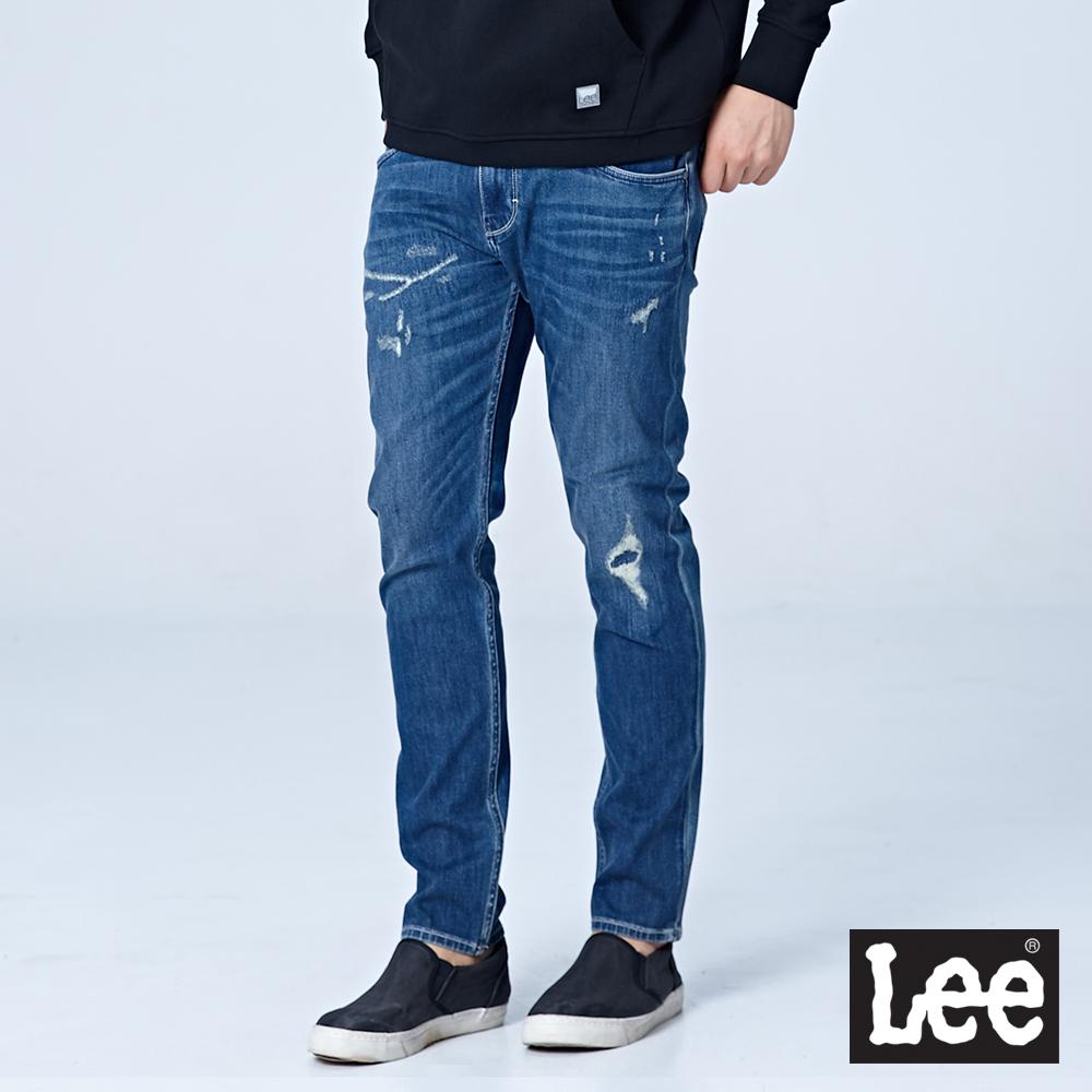 Lee 705中腰標準舒適小直筒牛仔褲/UR-中深藍