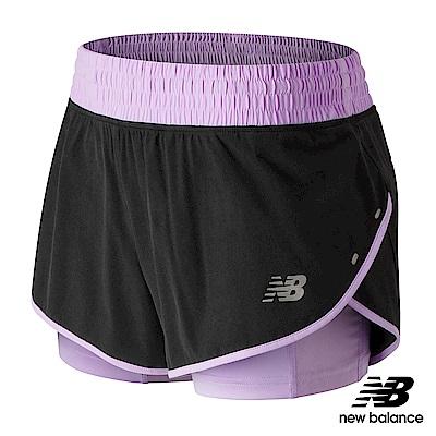 New BalanceDRY 彈性兩件式慢跑短褲AWS81263VIG_女淺紫