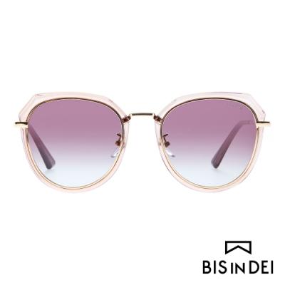 BIS IN DEI 不低調個性圓框太陽眼鏡-棕
