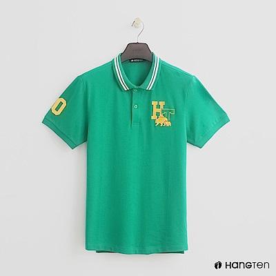 Hang Ten - 男裝 - logo滾邊領POLO衫 - 綠