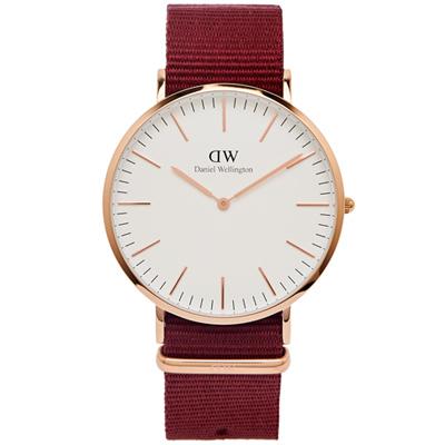 DW Daniel Wellington 經典Roselyn手錶-白面X玫瑰金框/40mm