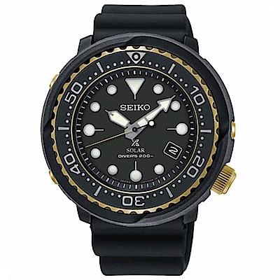 SEIKO 精工PROSPEX 太陽能潛水錶-黑金V157-0CX0X/SNE498P1