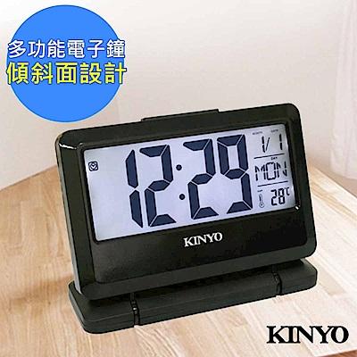 KINYO 多功能LCD電子鐘/鬧鐘/時鐘(TD-391)大字幕