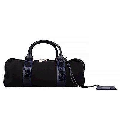 BALENCIAGA 織布手提機車包(藍色黑底)