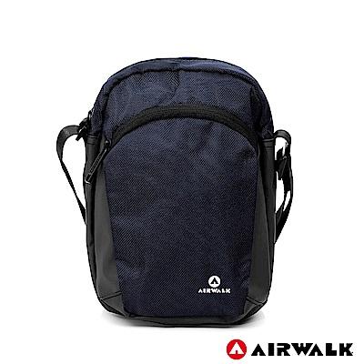 【AIRWALK】遨遊方圓休閒斜背包-藍色