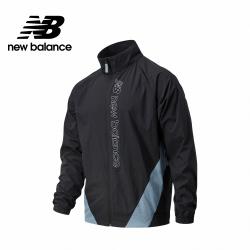 【New Balance】平織拉鍊外套_男性_黑色_AMJ11503BK