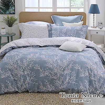 Tonia Nicole東妮寢飾  幽靜微香100%精梳棉兩用被床包組(加大)